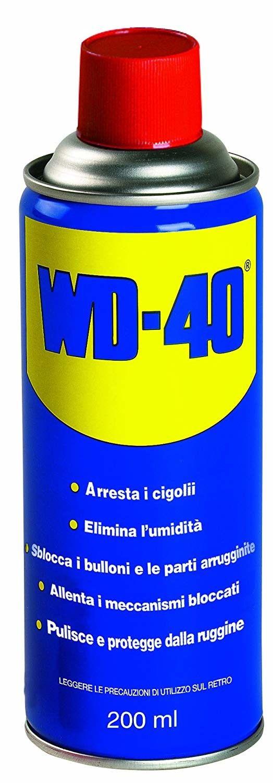 WD40 Lubrificante, Anticorrosivo e Sbloccante, Trasparente, 200 ml