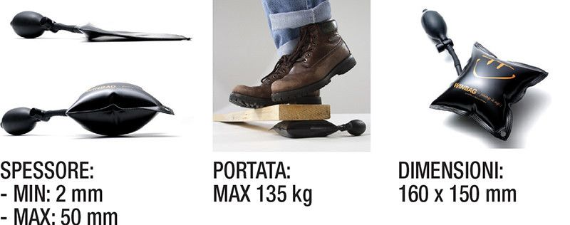 Cuscino gonfiabile WINBAG 160 x 150 mm