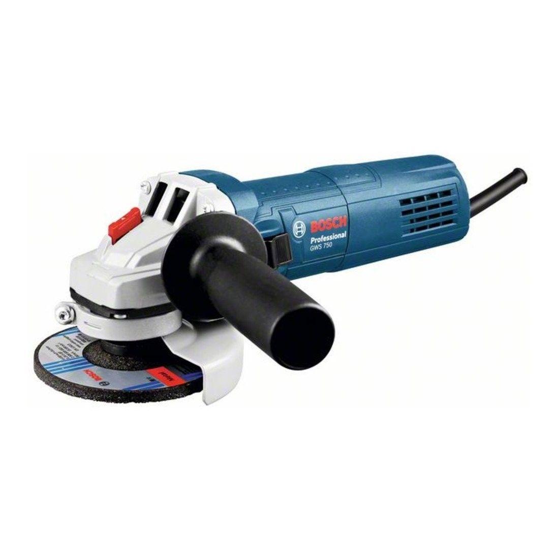 Smerigliatrice Angolare Bosch Professional GWS 750 , 750 W, 115 mm, M 14, Blu