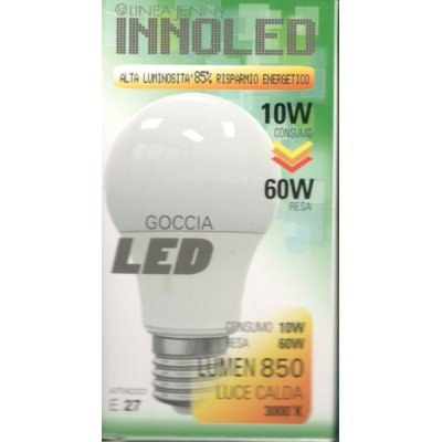 Lampadina LED GOCCIA 10w E27 Luce calda 3000 K