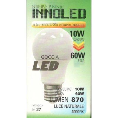 Lampadina LED GOCCIA 10w E27 Luce naturale 4000 K