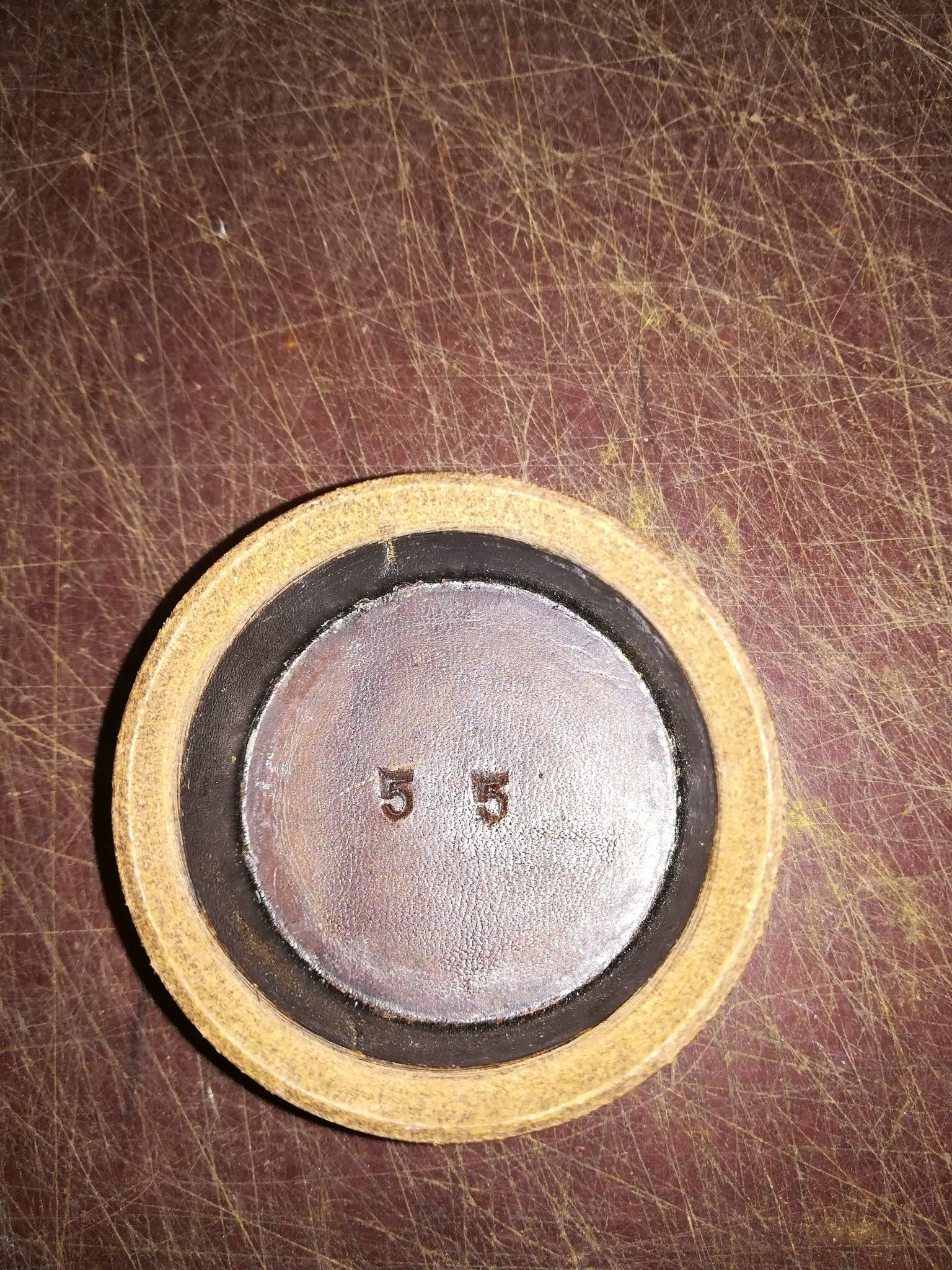 Calotta cuoio per pompa a mano ELEPHAS n. 1 Ø 55 mm