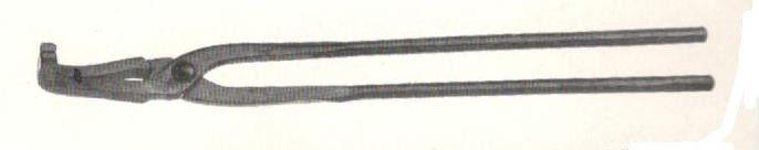 Tenaglia da forgia con becchi piatti piegati cm 60