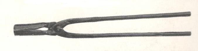 Tenaglia da forgia con becchi tondi diritti cm 50