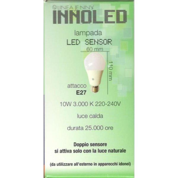 Lampadina LED crepuscolare E27 10w 3000 k