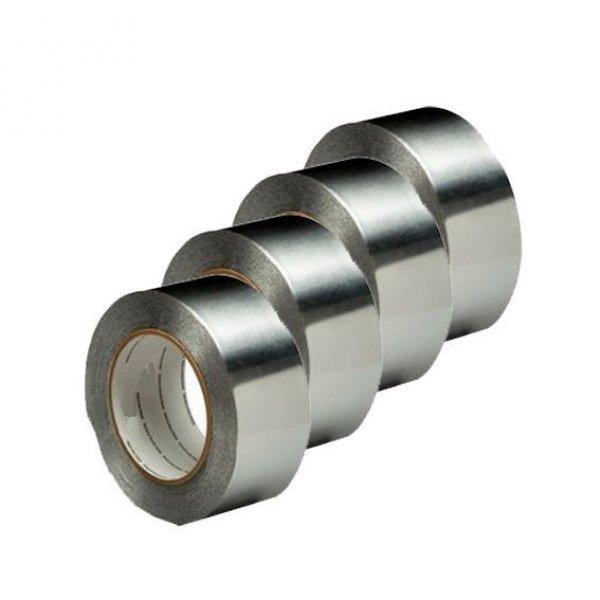 Nastro alluminio adesivo mm 50 x 50 mt per alte e basse temperature