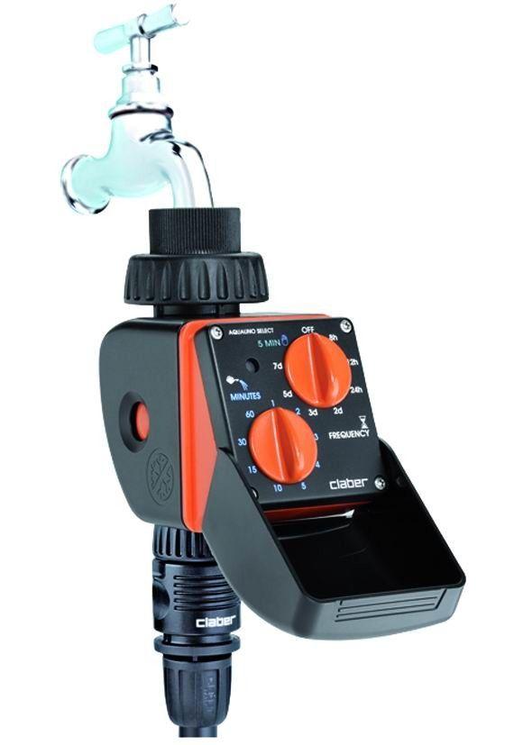 Programmatore irrigazione 1 zona per rubinetto CLABER AQUAUNO SELECT