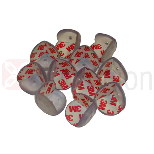 Paraspigolo pvc trasparente biadesivo grande mm 25 x 25