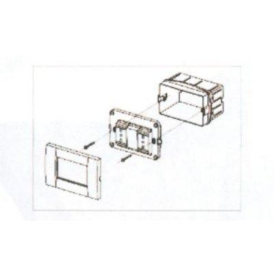 Vite 3,3 x 50 mm per fissaggio placche su scatole portafrutti