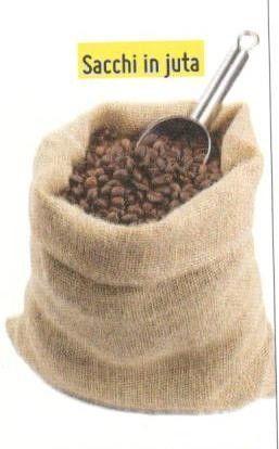Sacco in juta usato per caffe' mm cm 100 x 70