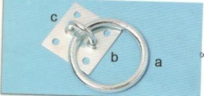 Piastra con anello in ferro zincato