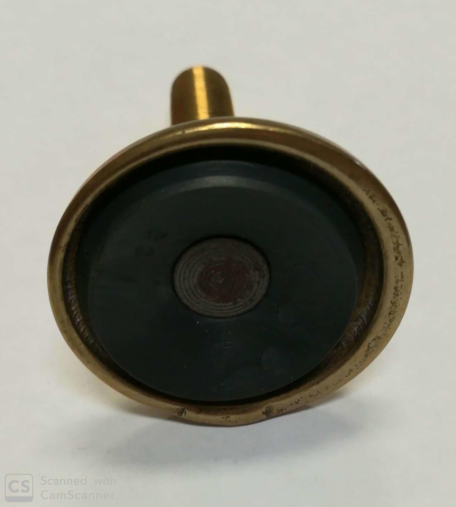 Piedino ottone 12 MA x 40 mm con gomma  registrabile