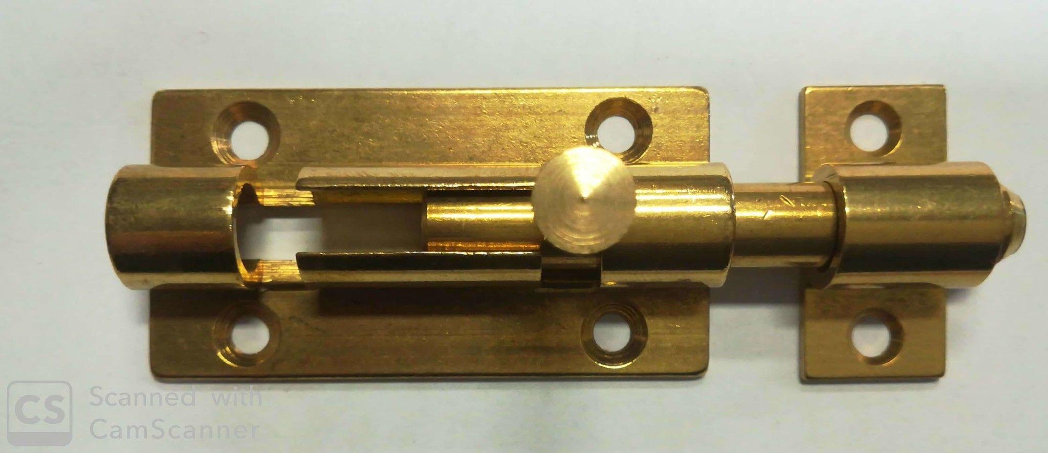 Catenacciolo ottone mm 60+15 asta tonda con fermo