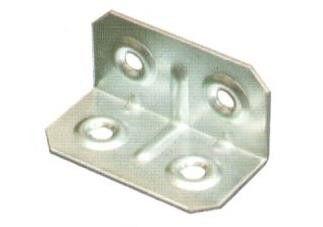 Piastrina piegata mm 20 x 20 largezza mm 40 zincata
