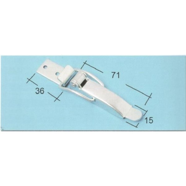 Chiusura a leva mm 115 in ferro zincato