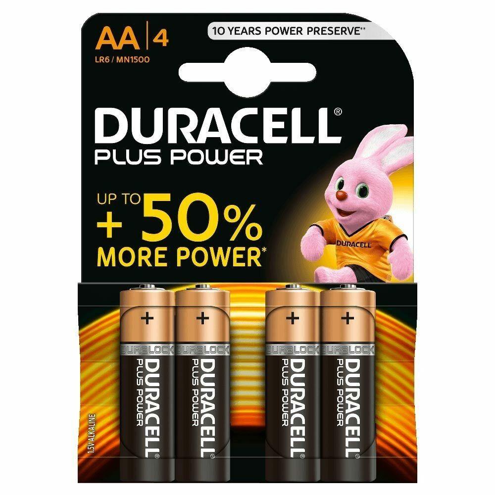 Batterie stilo AA DURACELL PLUS POWER conf. pz 4