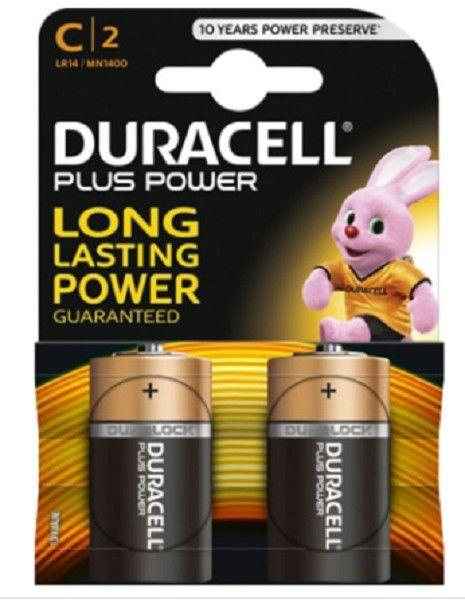 Batterie mezza torcia C DURACELL PLUS POWER conf. pz 2