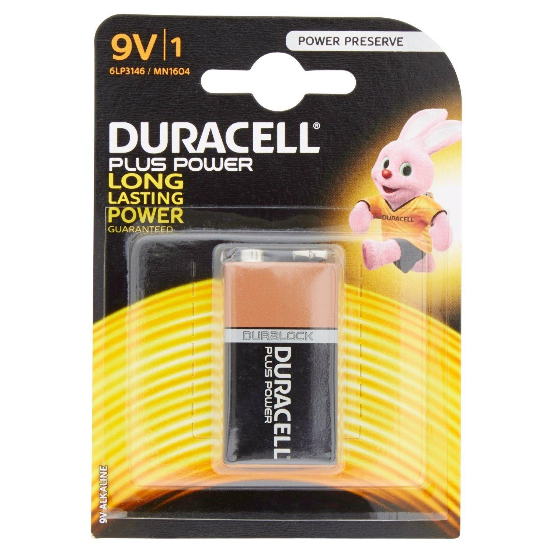 Batteria quadra 9 V DURACELL PLUS POWER conf. pz 1