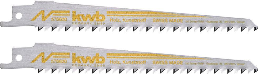 Set 2 lame per sega a gattuccio KWB 576600