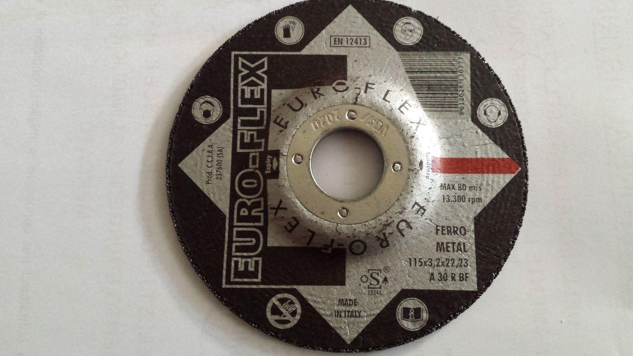 Disco per sbavatura metalli Ø 115 x 6,4 mm foro 22,23
