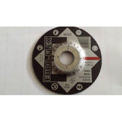 Disco per sbavatura metalli d. 115 x 6,4 mm foro 22,23