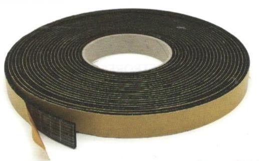 Guarnizione gomma mm 25 x 5 mt 10 adesiva in EPDM