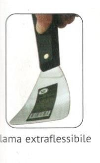 Spatola inox mm 38 bordi arrotondati extra flessibile