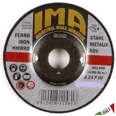 Disco per sbavatura metalli d. mm 125 x 6,4 foro 22,23