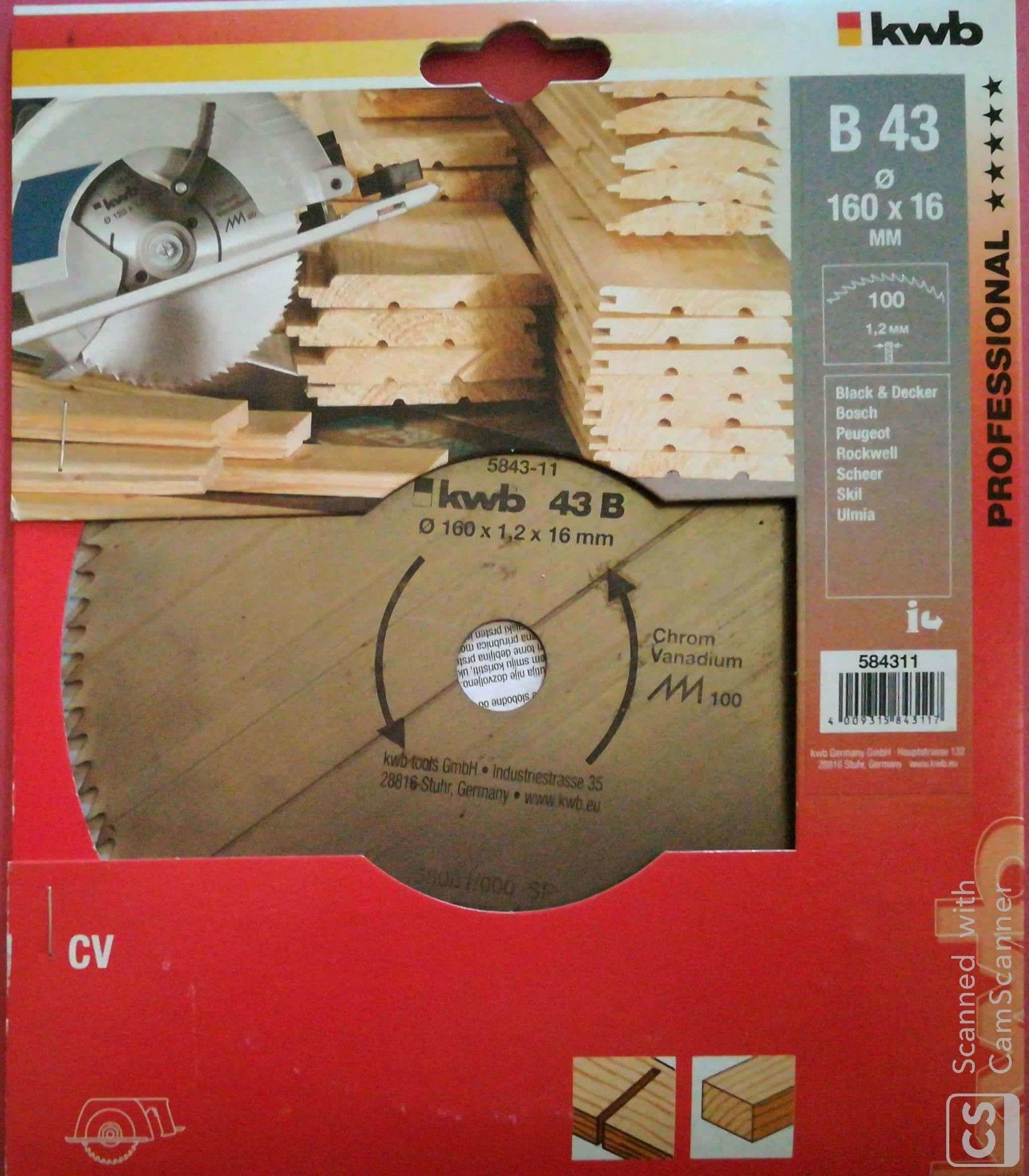 Lama per legno per sega circolare Ø 160 x 16 mm 100 denti