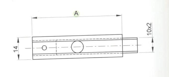 Catenacciolo ottone mm  50 mod. BINARIO tipo stretto