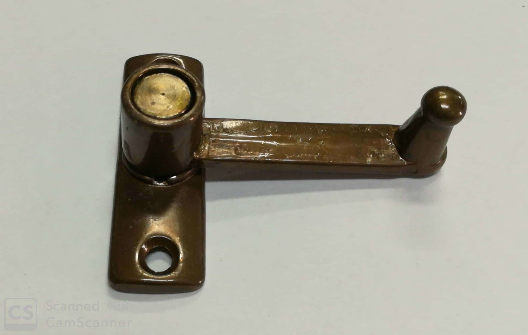 Tavellino ottone LISCIO bronzato con incontro sporgenza mm 15