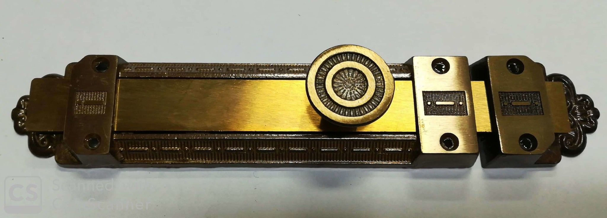 Catenaccio mod. DABY mm 200 in ottone bronzato