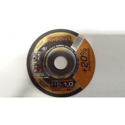 Disco RHODIUS XT38 per taglio inox d. mm 115 x 1,0 foro 22,23