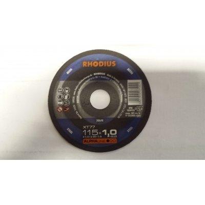 Disco RHODIUS XT77 per taglio metalli d. 115 x 1.0 foro 22.23