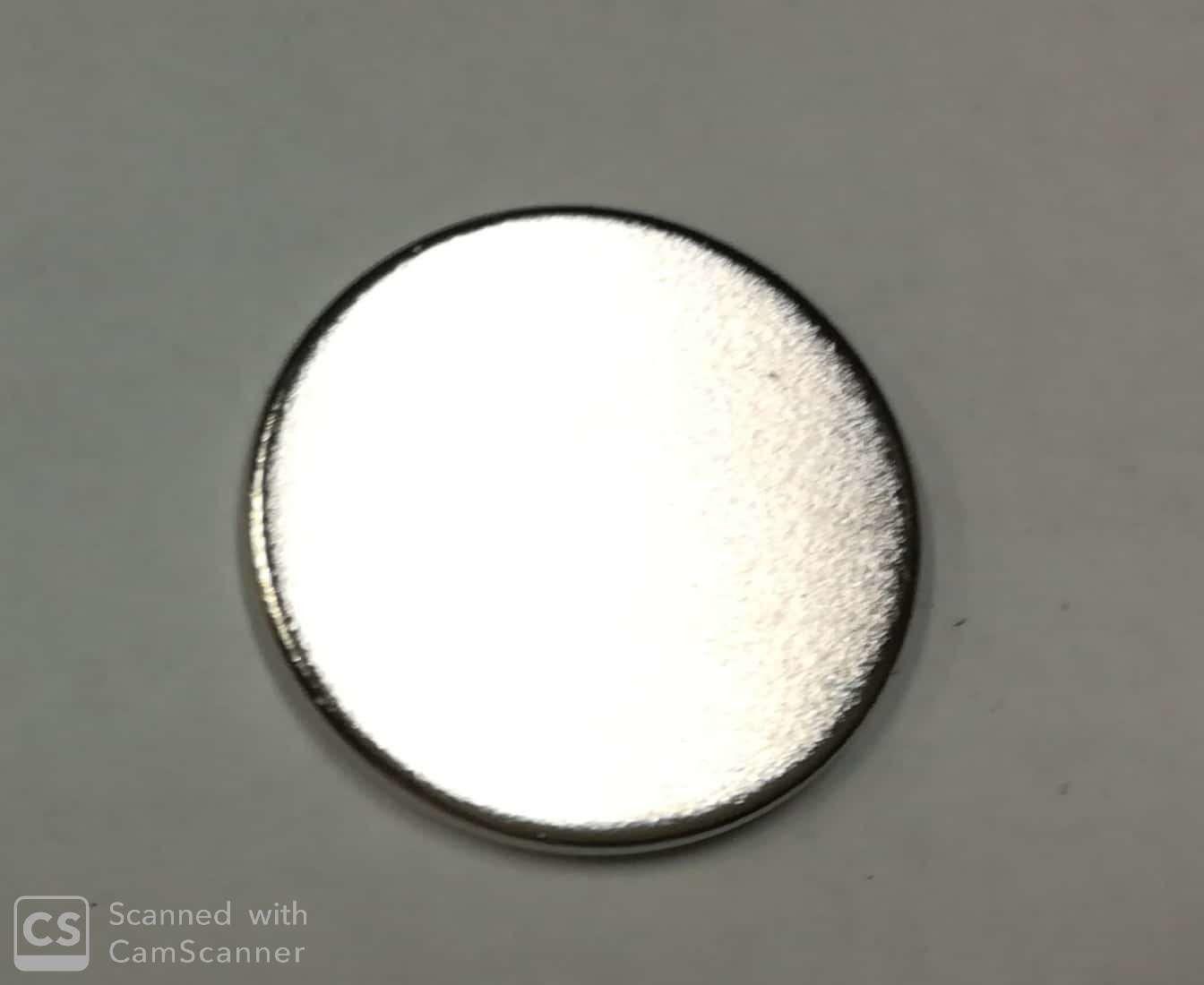Calamita neodimio tonda mm 18 x 1,5 forza 1,2 Kg