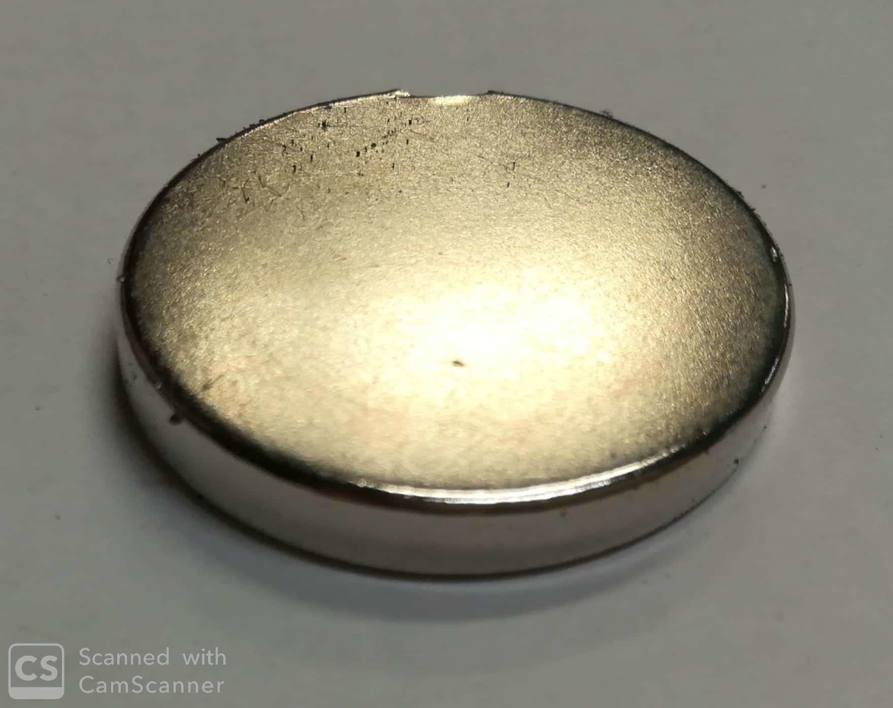 Calamita neodimio tonda mm 30 x 5 forza 13,0 Kg