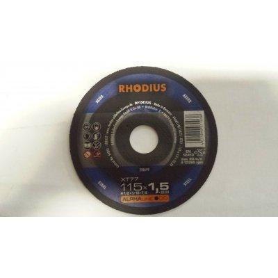 Disco RHODIUS per taglio metallo d. mm 115 x 1,5 foro 22,23