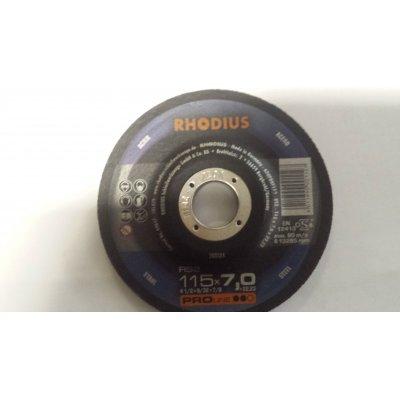 Disco RHODIUS per sbavatura metalli d. mm 115 X 7,0 foro 22.23
