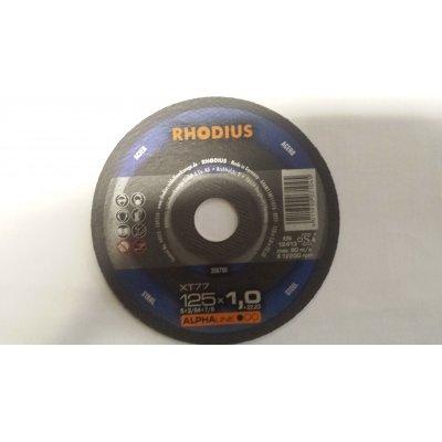 Disco RHODIUS per taglio metalli d. mm 125 x 1.0 foro 22.23
