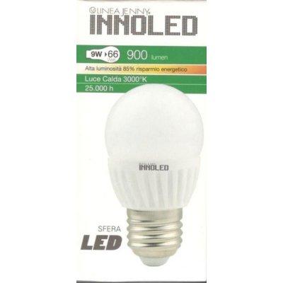 Lampadina LED SFERA 9w E27 Luce calda 3000 K