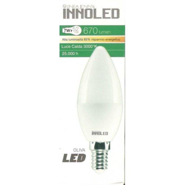 Lampadina LED OLIVA 7w E14 Luce calda 3000 K