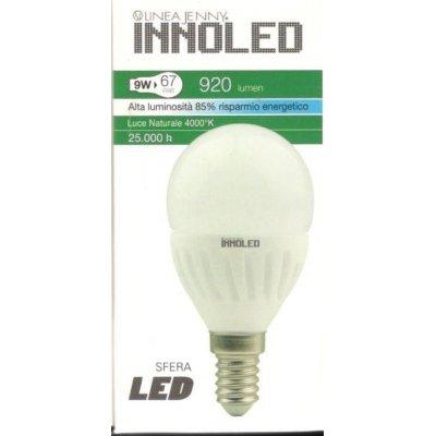 Lampadina LED SFERA 9w E14 Luce naturale 4000 K