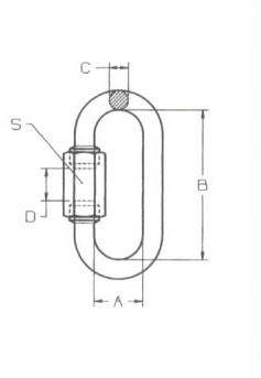 Maglia giunzione rapida mm 12 in acciaio zincato