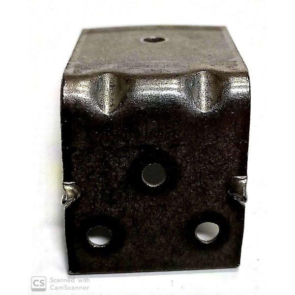 Piastra angolo pesante mm 55 x 45 larghezza mm 40 spessore mm 2,5