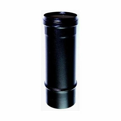 Tubo mm 80 x 100 cm per stufa a pellet o legna nero acciaio smaltato