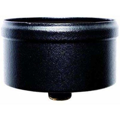 Tappo condensa 80 mm con scarico in acciaio inox verniciato nero per sufa pellet