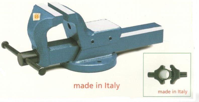 Morsa parallela mm 125 in acciaio forgiato FZA MA/4 con ganasce per tubi
