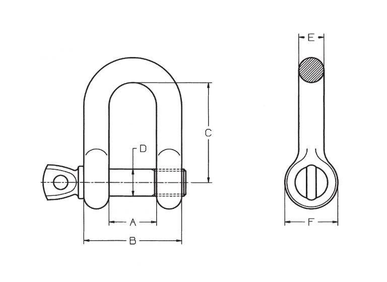 Grillo diritto mm 10 zincato tipo commerciale