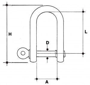 Grillo diritto inox A2 mm 10