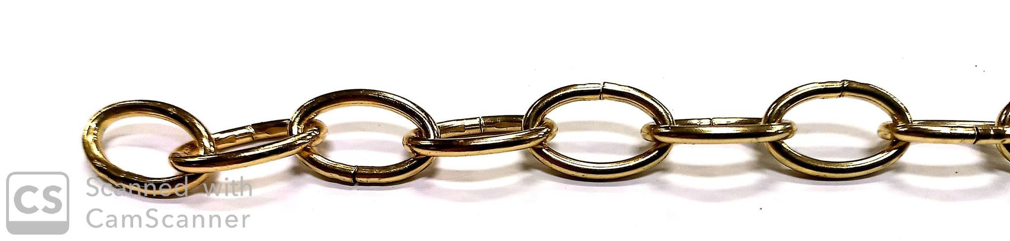 Catena OVALE ottonata anello mm 19 x 12 filo 2,2